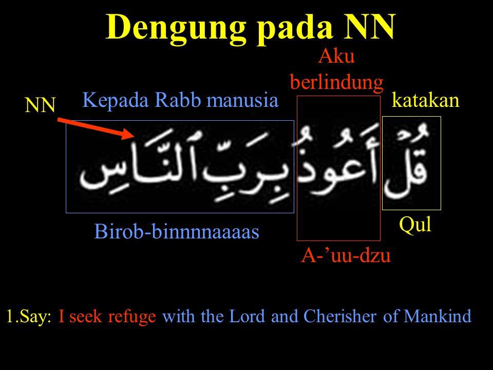 Dengung pada NN Birob-binnnnaaaas NN Qul katakan A-'uu-dzu Aku berlindung Kepada Rabb manusia 1.Say: I seek refuge with the Lord and Cherisher of Mank