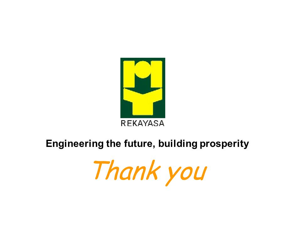 Thank you Engineering the future, building prosperity