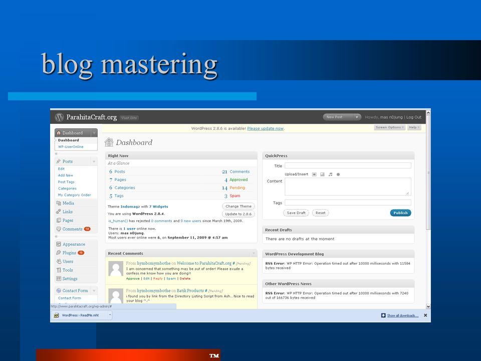 ™™ blog mastering
