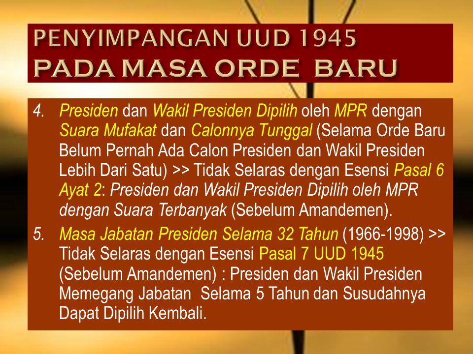 2. Kesepakatan MPR untuk Tidak Mengubah UUD 1945 dan Jika Dilakukan Perubahan Harus Melalui Referendum (Ketetapan MPR No. I Tahun 1983: Mengenai Tatat