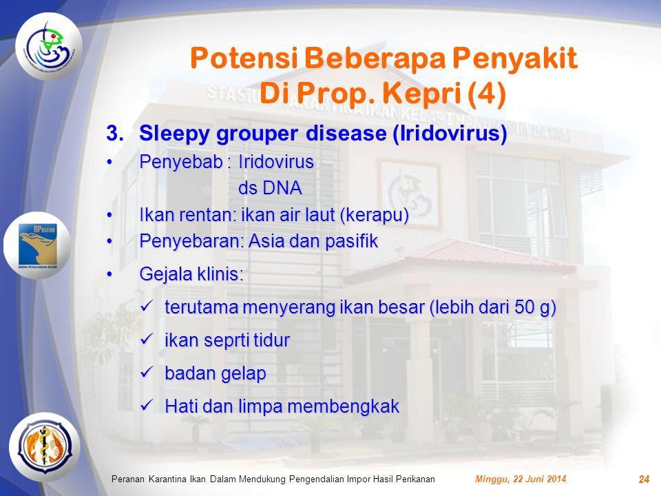 Potensi Beberapa Penyakit Di Prop.