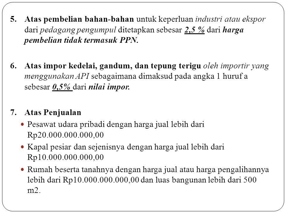 CONTOH SOAL: Seorang Importir mengimpor barang dengan harga impor $500.000, premi asuransi yang dibayar $10.000, bea masuk yang dibebankan Rp60.000.000.