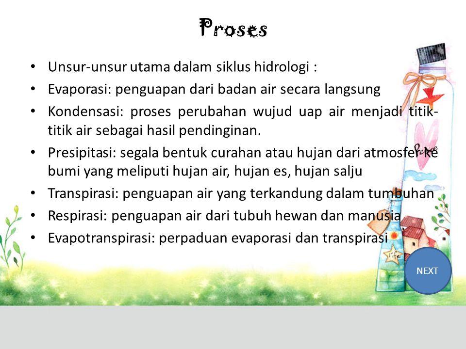 Siklus Hidrologi • Daur hidrologi sering juga dipakai istilah water cycle atau siklus air.