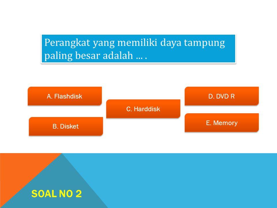 SOAL NO 1 A.Device Manager B. Control Panel C. Windows Explorer D.