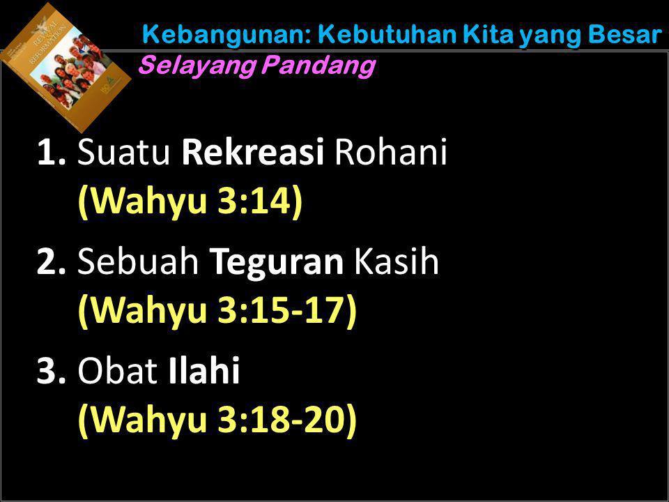 Understand the purposes of marriage Kebangunan: Kebutuhan Kita yang Besar Selayang Pandang 1.
