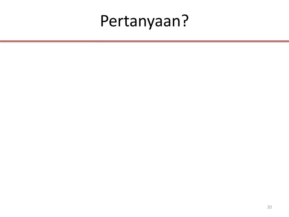 Pertanyaan 30