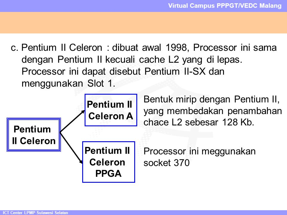 ICT Center LPMP Sulawesi Selatan Virtual Campus PPPGT/VEDC Malang c.