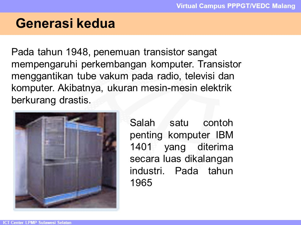 ICT Center LPMP Sulawesi Selatan Virtual Campus PPPGT/VEDC Malang Jenis-jenis Slot Expansion Slot ISA