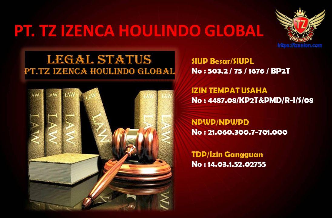 SIUP Besar/SIUPL No : 503.2 / 75 / 1676 / BP2T NPWP/NPWPD No : 21.060.300.7-701.000 TDP/Izin Gangguan No : 14.03.1.52.02755 PT.