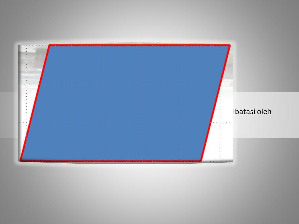 Luas Jajargenjang adalah ukuran dari daerah yang dibatasi oleh sisi – sisi Jajargenjang