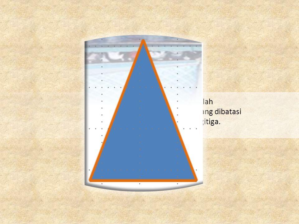 Luas Segitiga adalah Ukuran daerah yang dibatasi oleh sisi – sisi Segitiga.