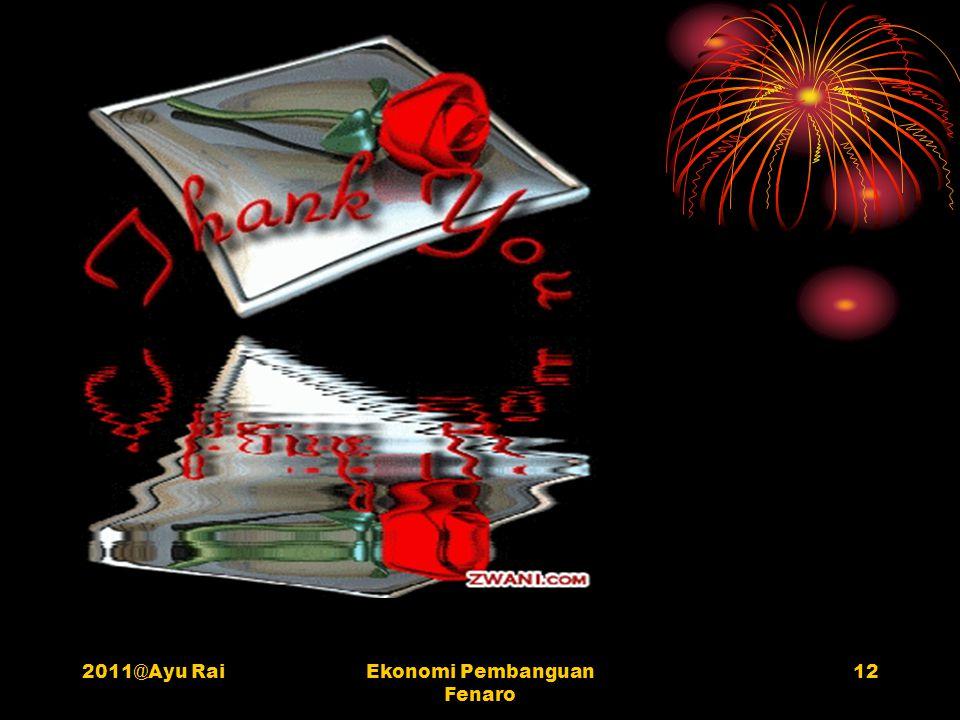 2011@Ayu RaiEkonomi Pembanguan Fenaro 12