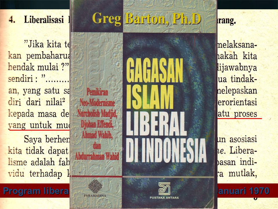 Program liberalisasi Islam Nurcholish Madjid, 3 Januari 1970