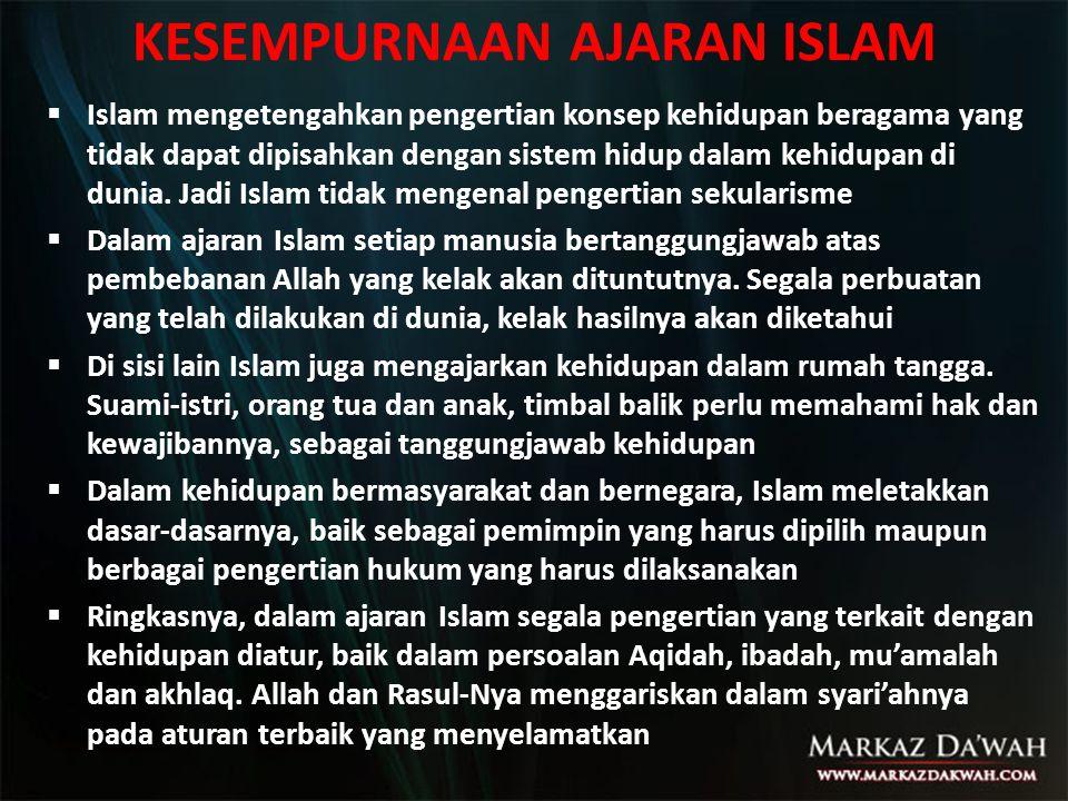 Sebagai sebuah pandangan keagamaan, pada dasarnya Islam bersifat inklusif dan merentangkan tafsirannya ke arah yang semakin pluralis.