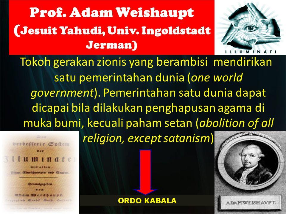 Prof.Adam Weishaupt ( Jesuit Yahudi, Univ.