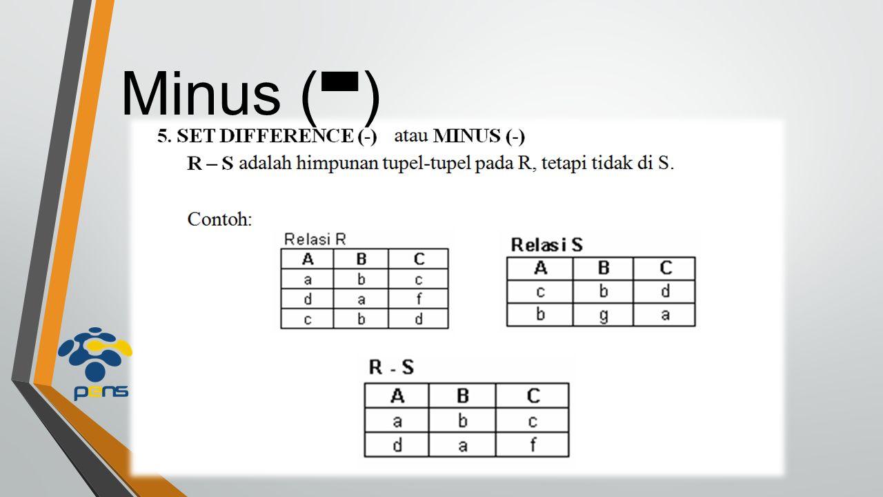 Minus ( - )
