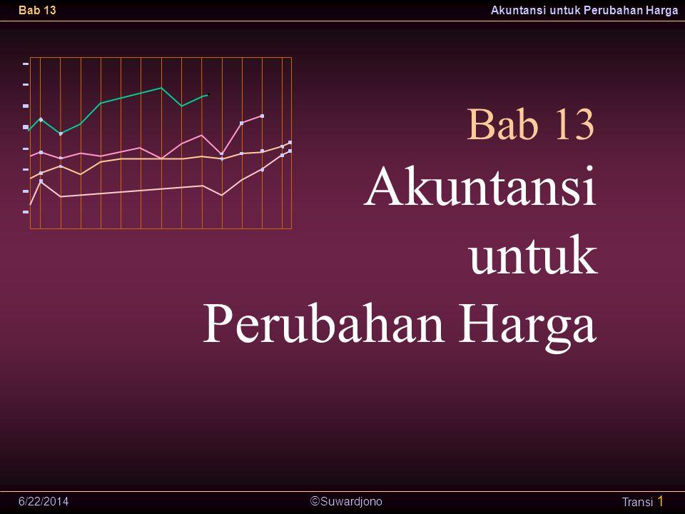  Suwardjono Bab 13Akuntansi untuk Perubahan Harga 6/22/2014 Transi 1 Bab 13 Akuntansi untuk Perubahan Harga