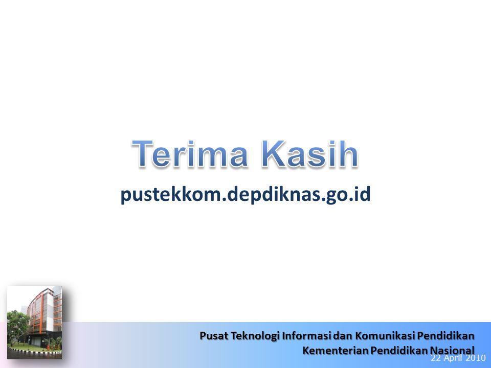 6/22/201431 Pusat Teknologi Informasi dan Komunikasi Pendidikan Kementerian Pendidikan Nasional Pusat Teknologi Informasi dan Komunikasi Pendidikan Ke