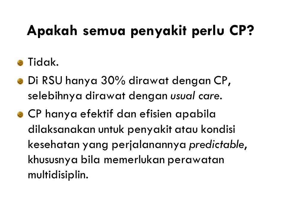 Apakah semua penyakit perlu CP.Tidak.