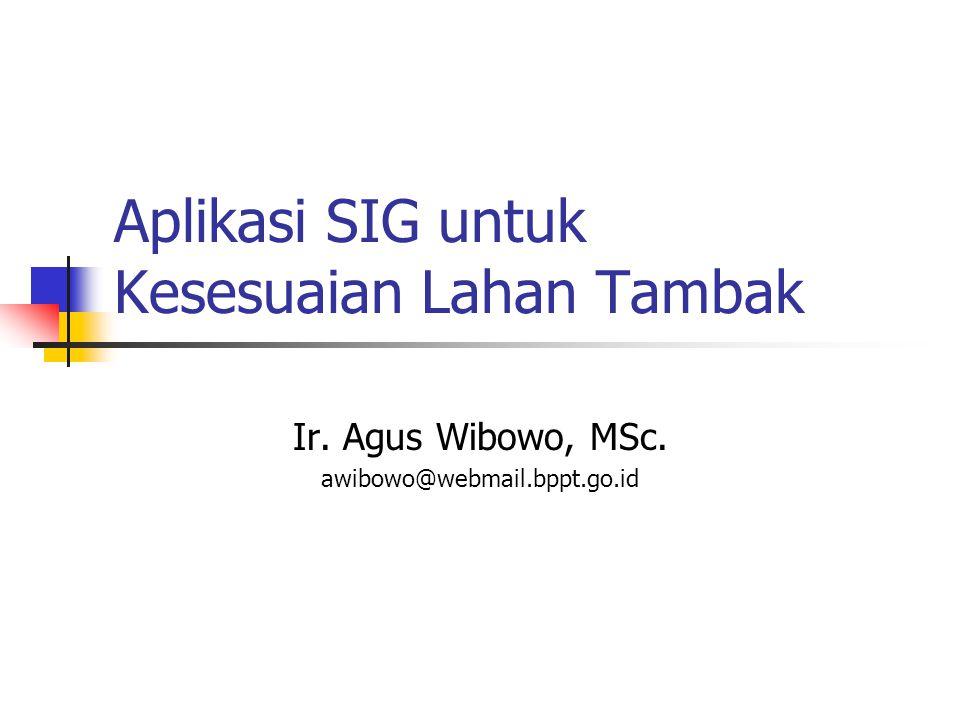 AWI-2004 Hal 2 Tujuan  Peserta mampu menerapkan fungsi- fungsi software SIG untuk keperluan analisis spasial  Peserta mengetahui prosedur analisis spasial