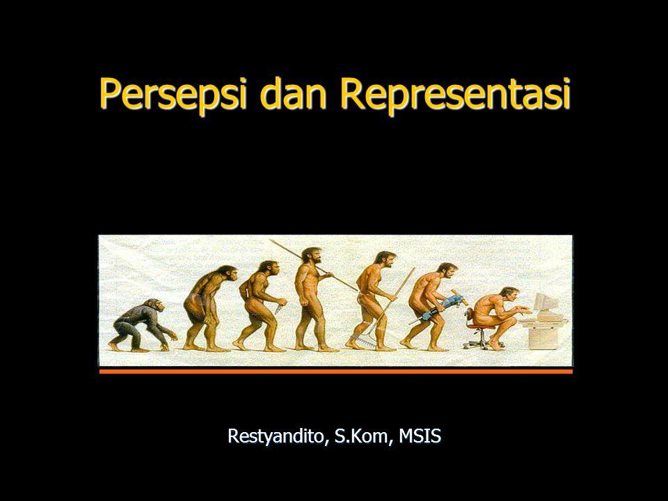 Persepsi dan Representasi Restyandito, S.Kom, MSIS