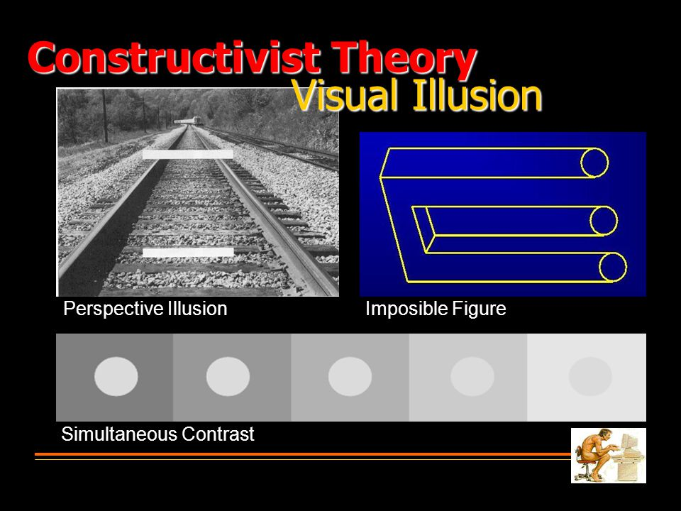 Perspective Illusion Simultaneous Contrast Imposible Figure Visual Illusion Constructivist Theory
