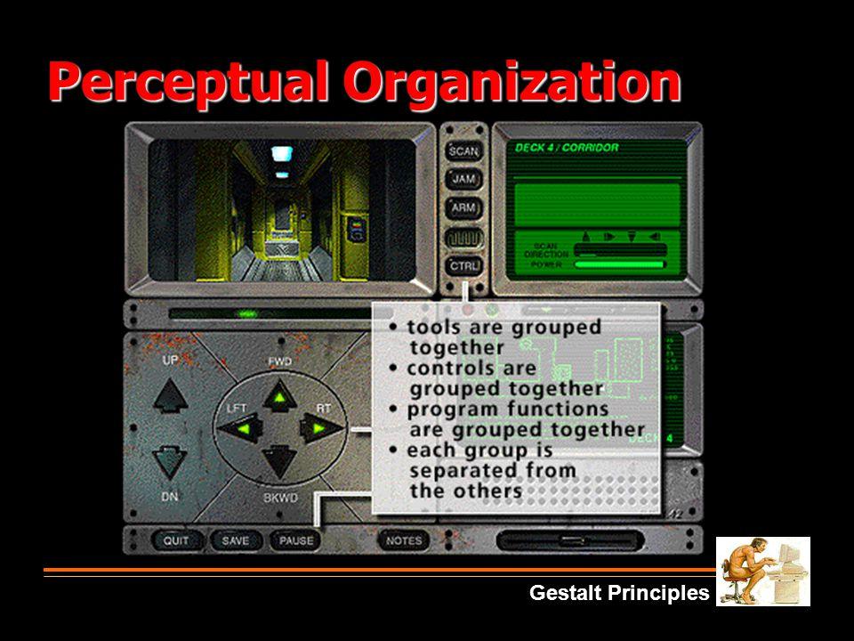 Perceptual Organization Gestalt Principles