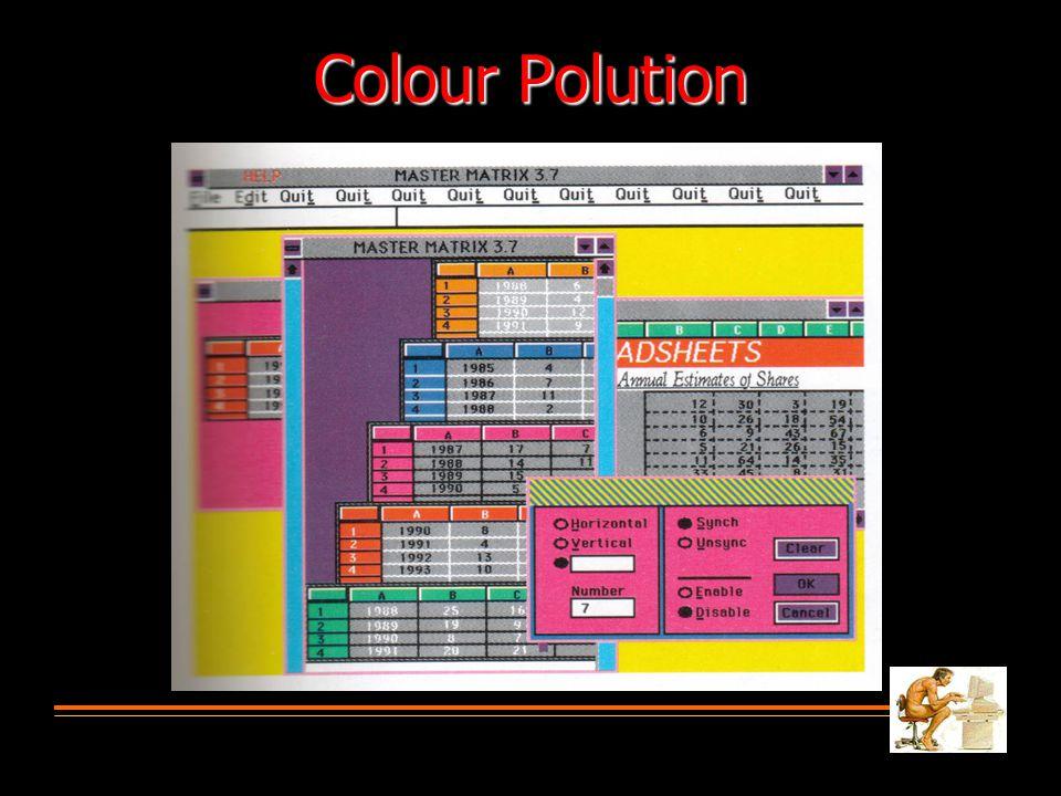 Colour Polution