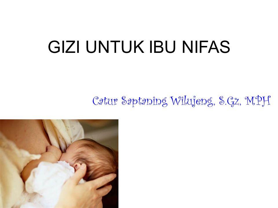 GIZI UNTUK IBU NIFAS Catur Saptaning Wilujeng, S.Gz, MPH