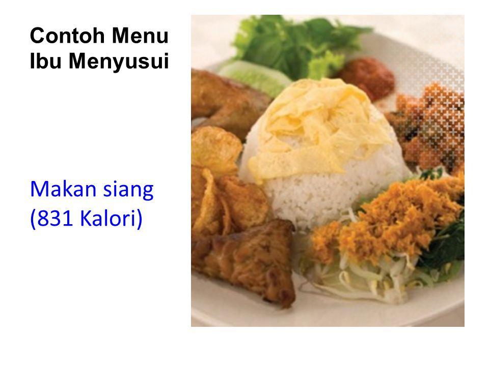 Contoh Menu Ibu Menyusui Makan siang (831 Kalori)