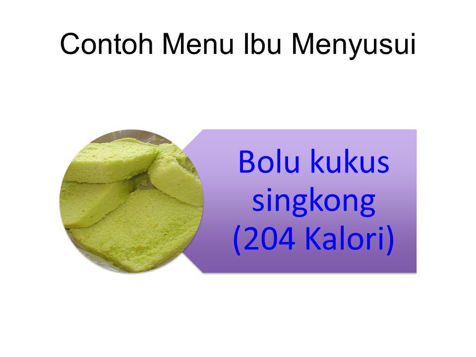 Contoh Menu Ibu Menyusui Bolu kukus singkong (204 Kalori)