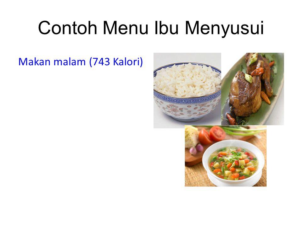 Contoh Menu Ibu Menyusui Makan malam (743 Kalori)