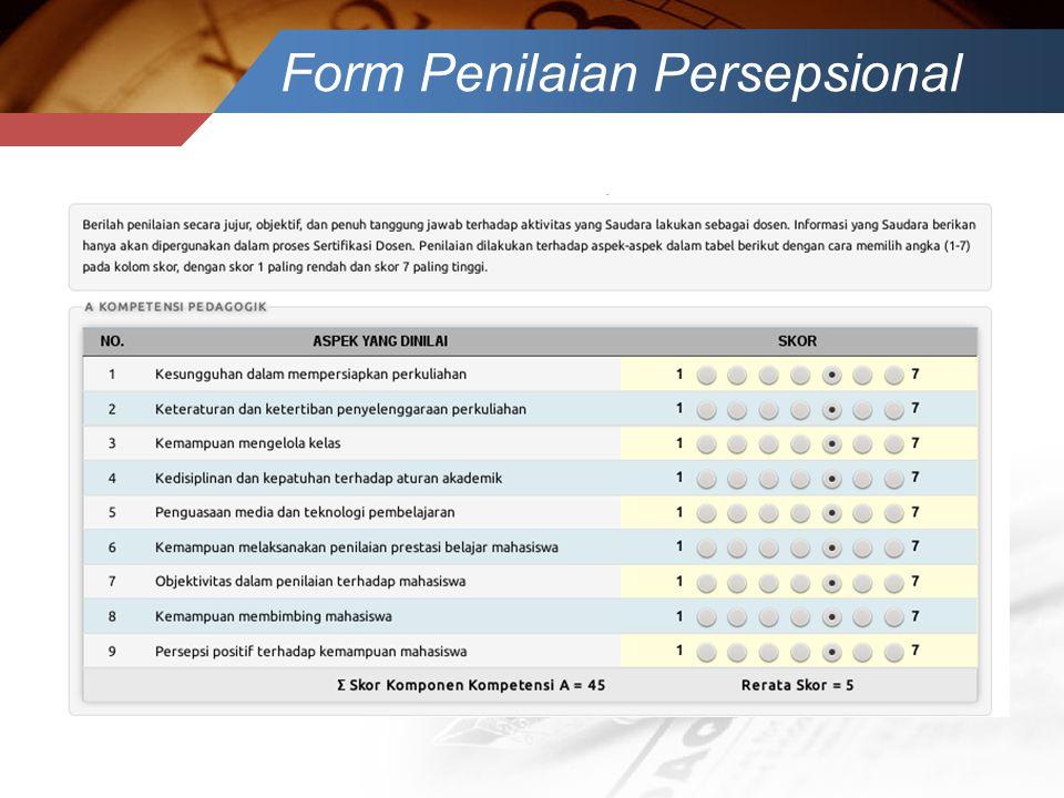 Form Penilaian Persepsional