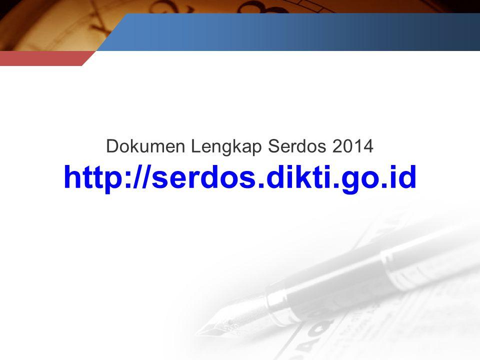 Dokumen Lengkap Serdos 2014 http://serdos.dikti.go.id