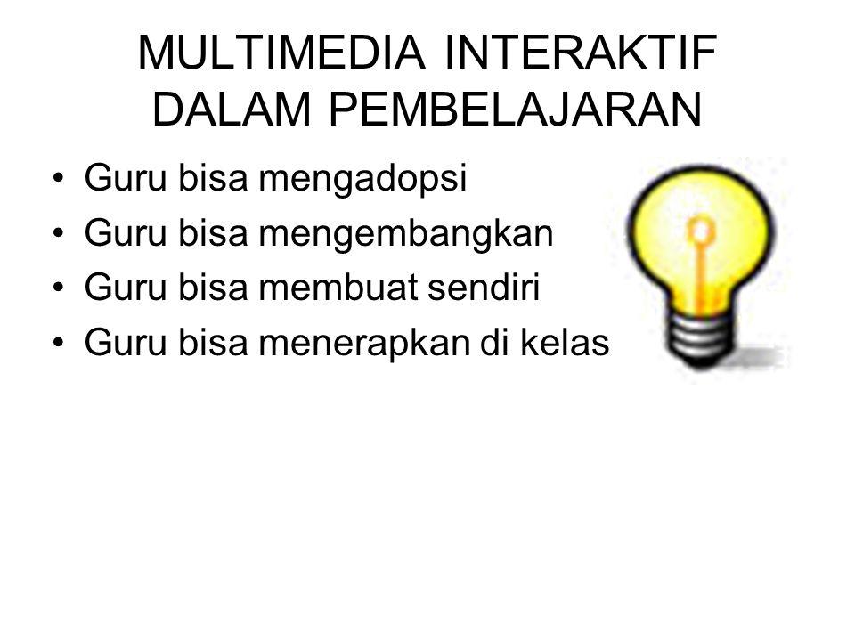 Komputer untuk Pembelajaran Video Pembelajaran CD Multimedia Interaktif Multimedia Presentasi