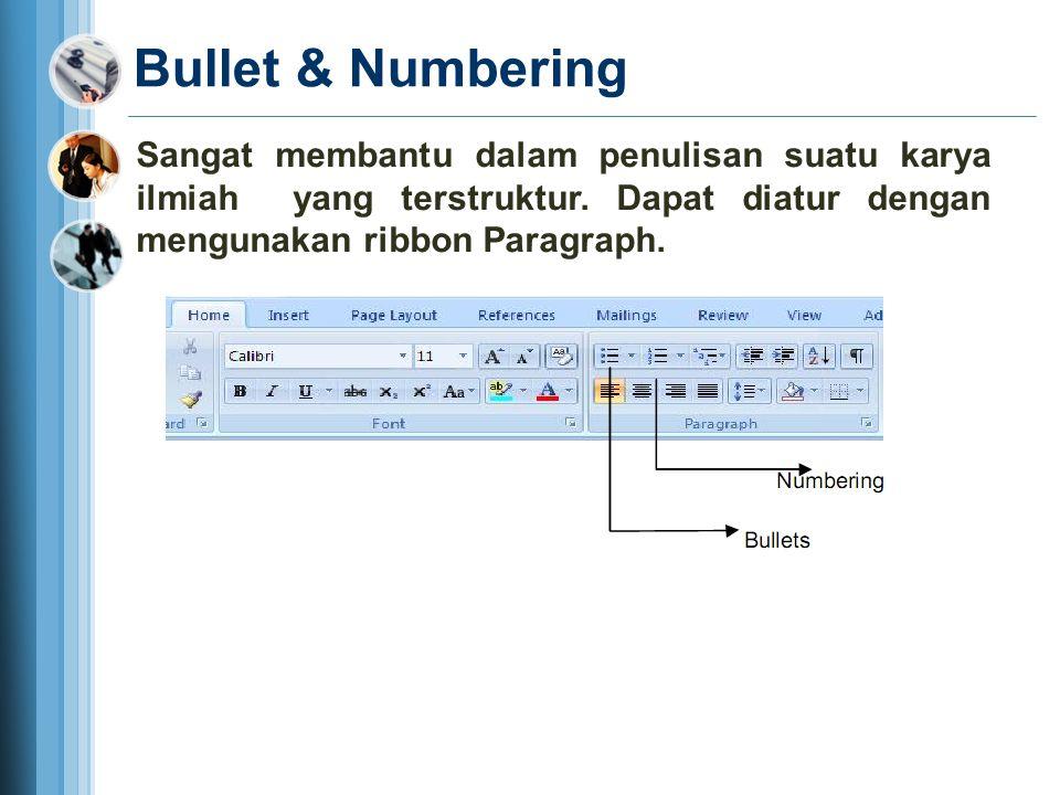 Klik tombol paragraf Pada ribbon Klik tombol paragraf Pada ribbon