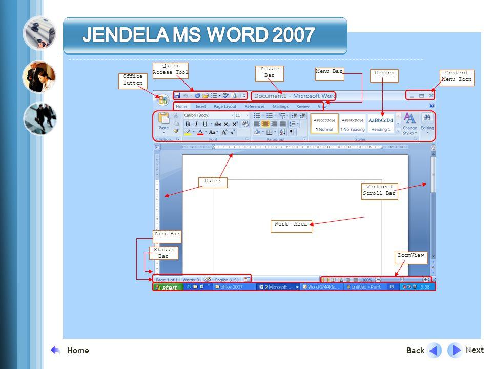 Next Back Home Mengenal Microsoft Word 2007 Microsoft Word merupakan program aplikasi pengolah kata (word processor) yang yang biasa digunakan untuk m