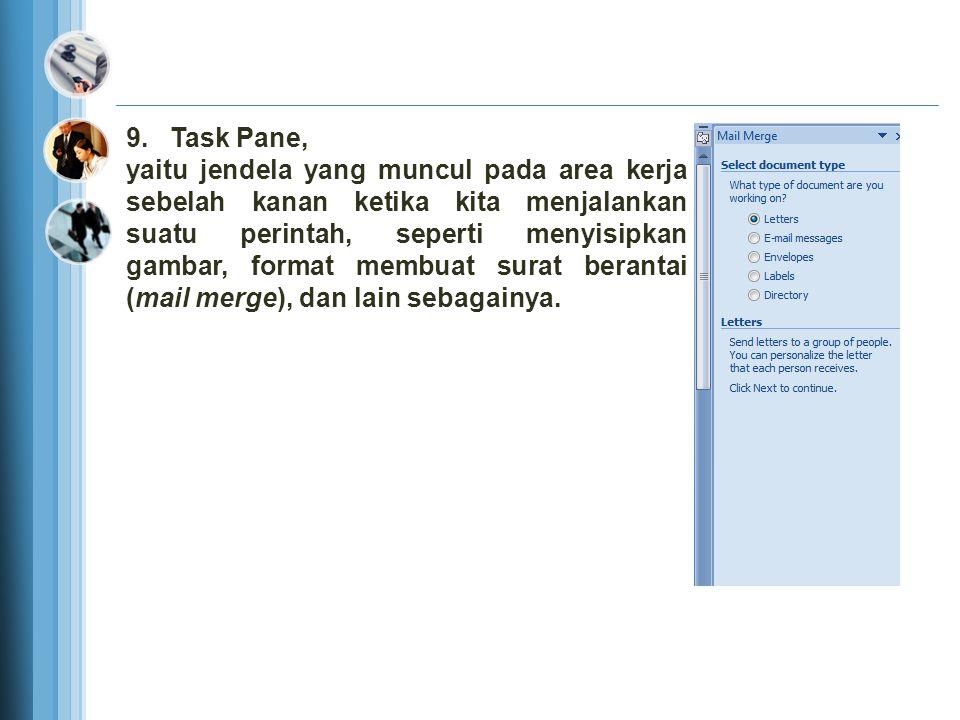 7. Penggulung layar (Scroll Bar), yaitu bagian yang digunakan untuk layer ke atas dan ke bawah (Scrollbar vertical), serta ke kiri dan ke kanan (Scrol
