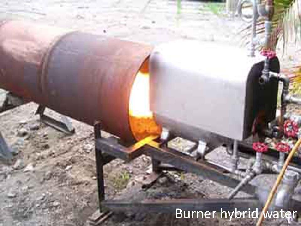 Burner hybrid water