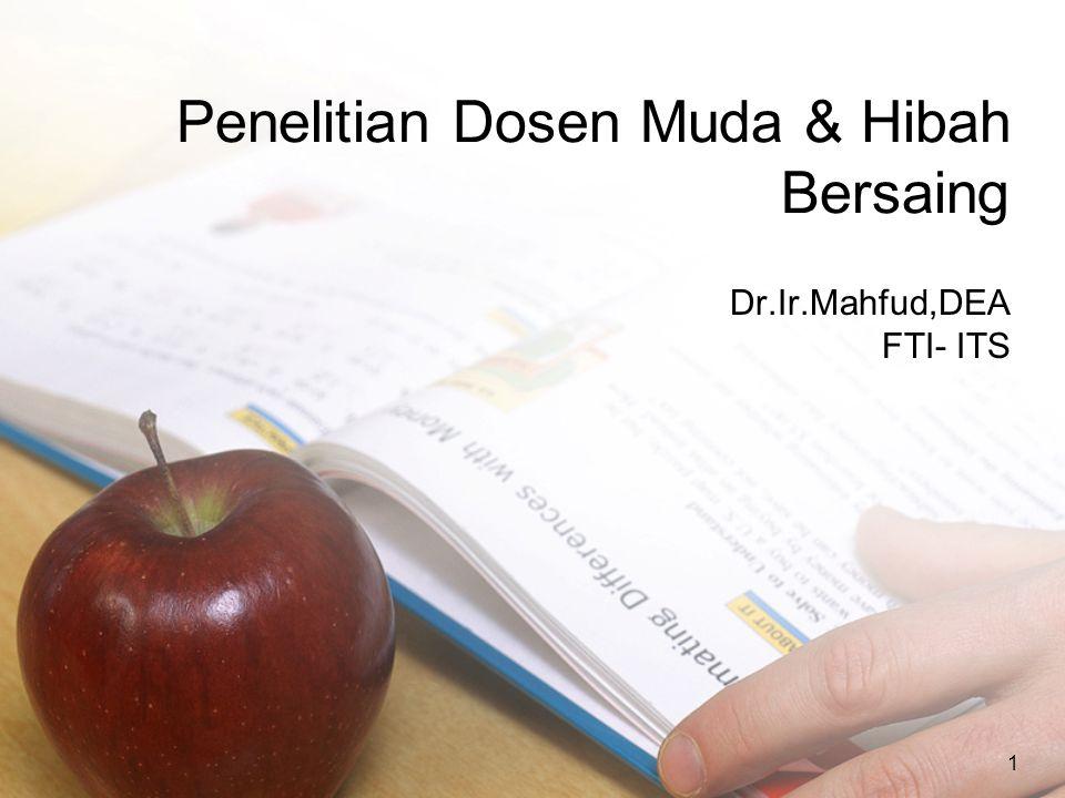 1 Penelitian Dosen Muda & Hibah Bersaing Dr.Ir.Mahfud,DEA FTI- ITS