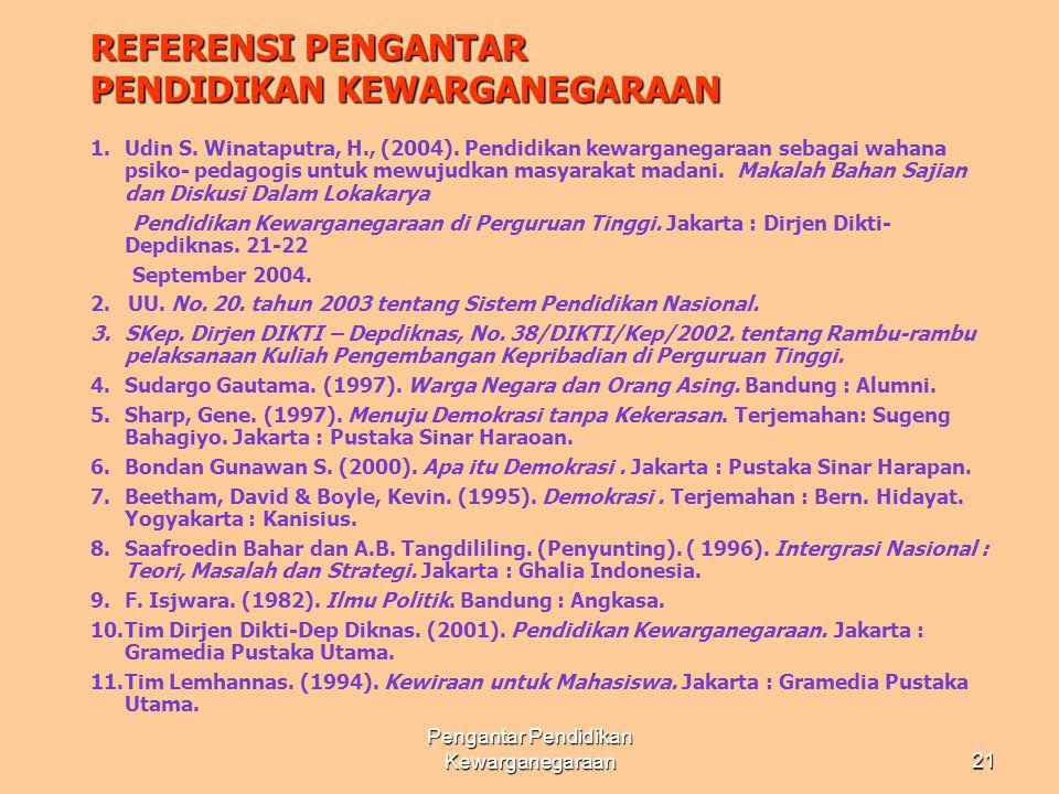 Pengantar Pendidikan Kewarganegaraan20Tim UNAIR - PULSE 05 ATRIBUT MASYARAKAT MADANI INDONESIA • BER-KETUHANAN YANG MAHA ESA, BERKEMANUSIAAN YANG ADIL