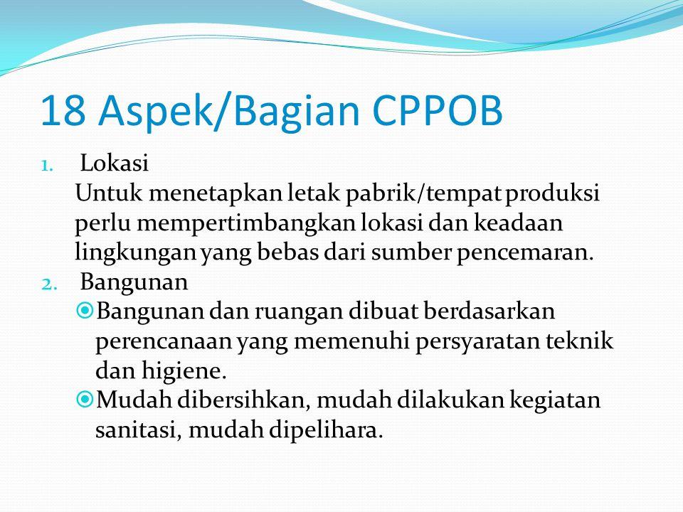GRADASI CPPOB  3 tingkatan:  Persyaratan harus (shall) adalah persyaratan yang mengindikasikan apabila tidak dipenuhi akan mempengaruhi keamanan produk secara langsung.