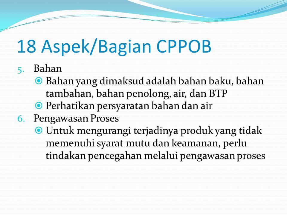 18 Aspek/Bagian CPPOB 4.