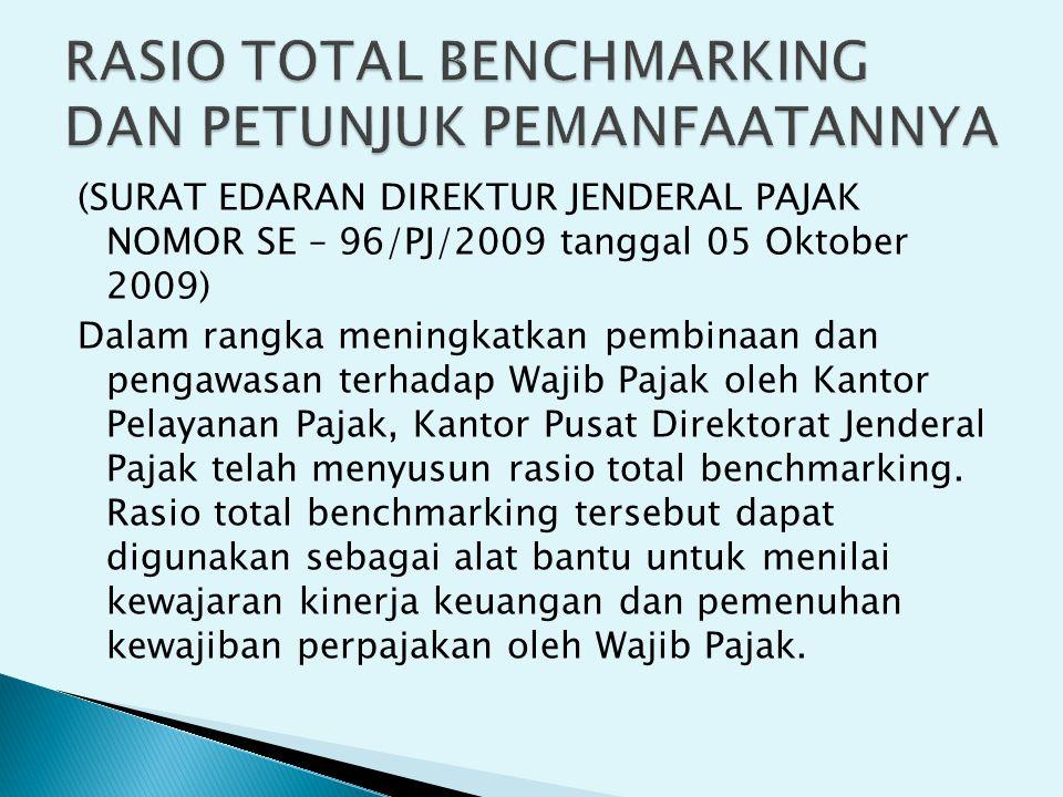 (SURAT EDARAN DIREKTUR JENDERAL PAJAK NOMOR SE – 96/PJ/2009 tanggal 05 Oktober 2009) Dalam rangka meningkatkan pembinaan dan pengawasan terhadap Wajib