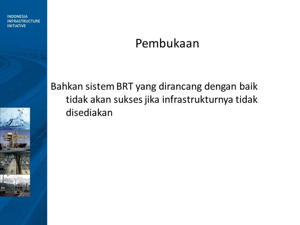 Bahkan sistem BRT yang dirancang dengan baik tidak akan sukses jika infrastrukturnya tidak disediakan Pembukaan