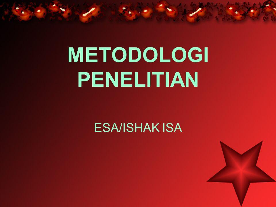 METODOLOGI PENELITIAN ESA/ISHAK ISA