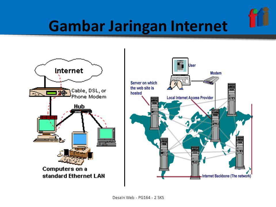 Gambar Jaringan Internet Desain Web - PG164 - 2 SKS