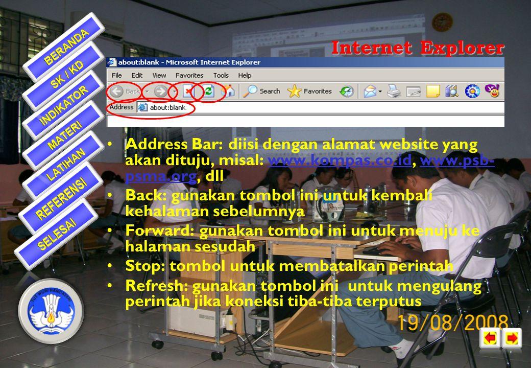 Internet Explorer Address Bar Back Forward Refresh Stop