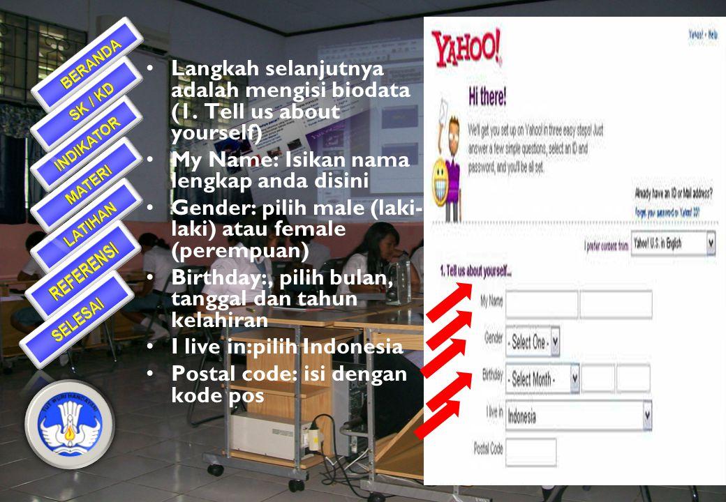 Untuk memulai, masuk ke Mail Yahoo, Klik mail.yahoo.com pada address bar Untuk mendaftar Klik Tombol Sign Up pada layar Yahoo Klik disini!