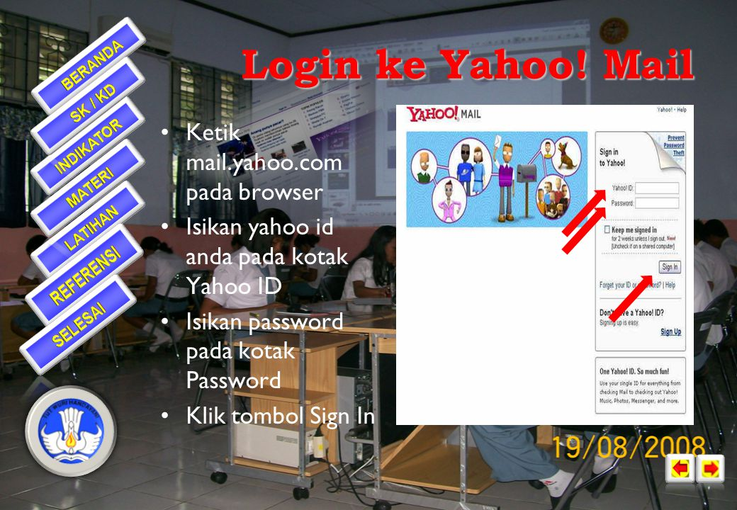 Jika anda sampai pada halaman ini maka anda telah selesai membuat email menggunakan yahoo •Pada halaman ini juga disebutkan yahoo id, dan alamat email yang telah dibuat •Klik continue untuk menuju pada layar email Selamat…